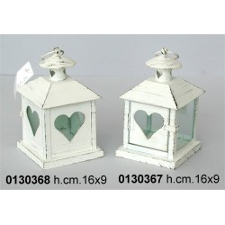Lanterna Mini Porta C/Cuore B-597-Tx H Cm 18