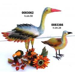 Uccello Ferro Dipinto Cm.50