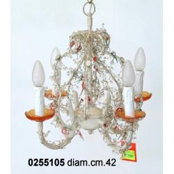 Lampadario Perline 4 L. 10469
