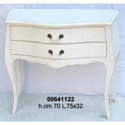 Comodino Largo 2 Cass. 3964 Bianco