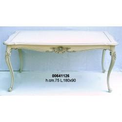 Tavolo C/Fregio 180X90 H. 75 Bianco