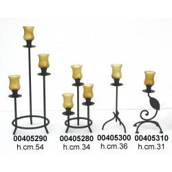 Candeliere Ferro 3 Grande C/Bicchierino