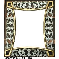 Specchiera Dorata Legno 95 X 110