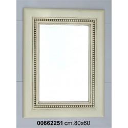 Specchiera Legno Bianca P8 Cm.60 X 80