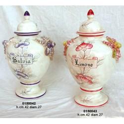 Potiche Ceramica Dec. Blu Cm.42
