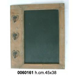 Lavagna C/Cuori Legno Nat H Cm 43 Yx11-823