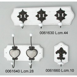 Attaccapanni 3 P. Legno Bianco Yx12-3237