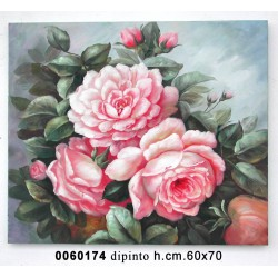 Dipinto Rose Mv09178 Cm 70*60