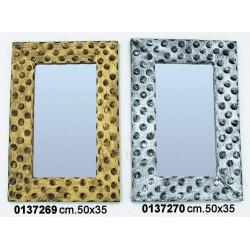Specchio Pois 50X34 Gold