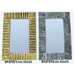 Specchio Canna 50X34 Gold