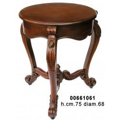 Tavolino Tondo Luigi F.Mogano Cm.68 H.75 F66