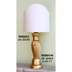 Base Lampada Legno Tl3 Elettr C/Arc.****Nr.