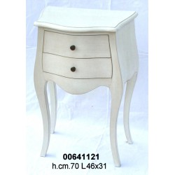 Comodino 2 Cass. 3963 Bianco