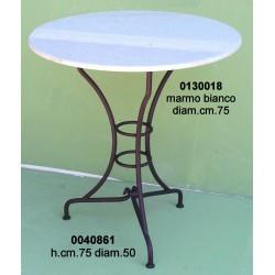Marmo X Tavolo Bianco Tondo Dm. 65