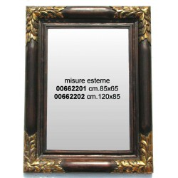 Specchiera Dorata Legno C1 120X85Nr.
