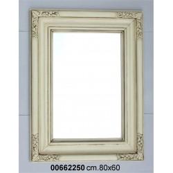 Specchiera Legno Bianca P6 Cm.60 X 80