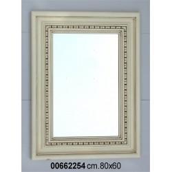 Specchiera Legno Bianca P4 Cm.60 X 80