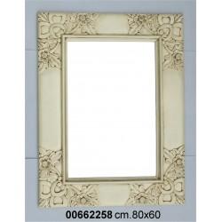 Specchiera Legno Bianca P11 Cm.60 X 80