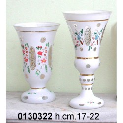 Bicchiere Vetro Stile Bieder Mayer Assortito H.Cm.17-22Nr.