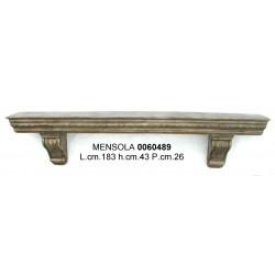 Mensola Legno Cm.183 H.43X26 Gipb-1021Nr.