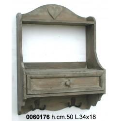 Mensola 1 Cassetto Legno Nat Yx11-7072-Br