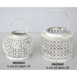 Lanterna C/Manico Metallo Lavorato Zd-13M82142-F16Nr.