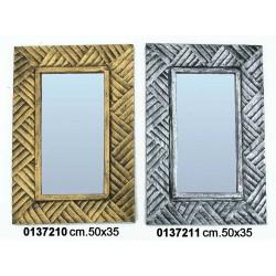 Specchio Intrecci 50X34 Gold
