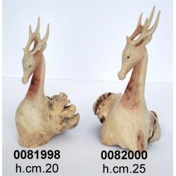 Cervo Legno Cm.20